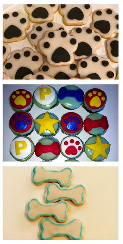 Paw Patrol Cookies and Cupcakes