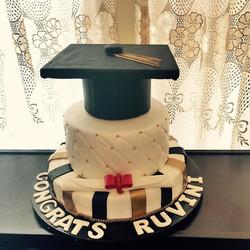 Graduation Fondant Cake