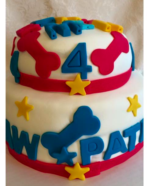 Paw Patrol Marshmallow Fondant Cake