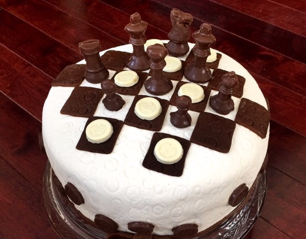 Check Mate Birthday Cake