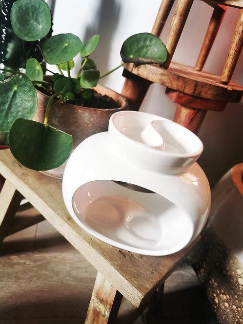 Deluxe Rome Tealight Burner -White