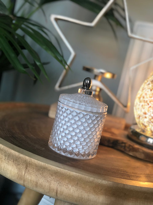 White Geo Candle