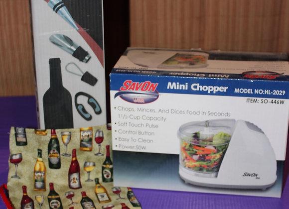 Chopper & Wine Set