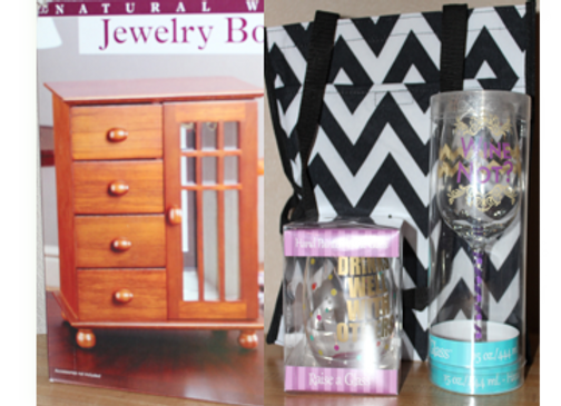 Designer Wine Glasses & Jewelry Box