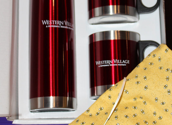 Western Village Assortment & a bottle of Bray Vineyards Wine