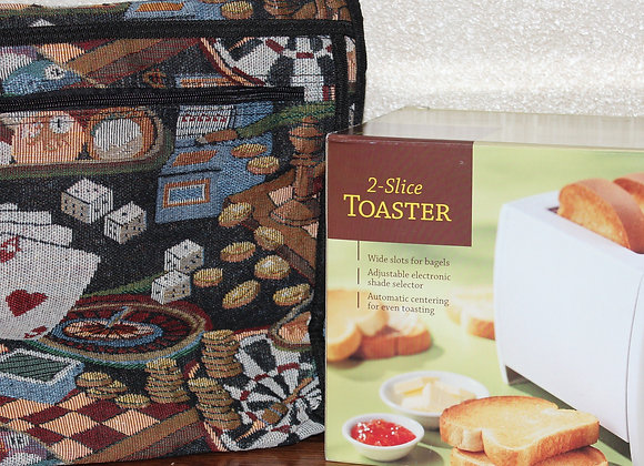 Rolling Tote Bag & Toaster