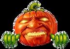 pumpkin-character-blank-sign-green-plant-hands-holding-banner-as-jack-o-lantern-halloween-