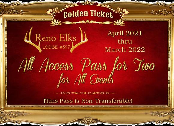 "Reno Elks Lodge #597 2021-22 ""All Access"" Pass"