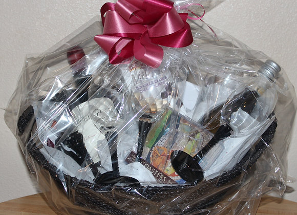 """""""Wine Away the Hours"""" Gift Basket"""