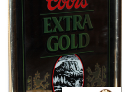 Coors Bar Mirror & $25 See's Candy Gift Card