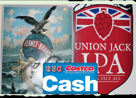 Metal Pub Signs & $50 Costco Gift Card