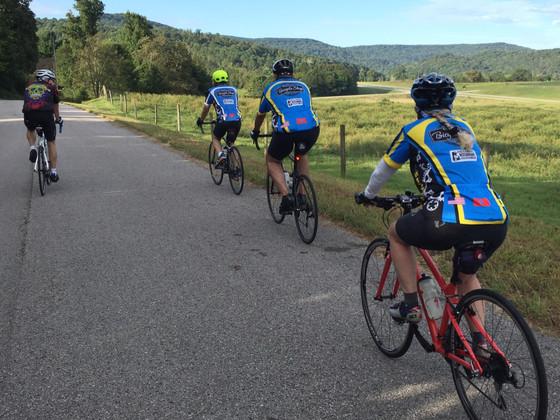 Town Hill rides Bald Knob Mountain