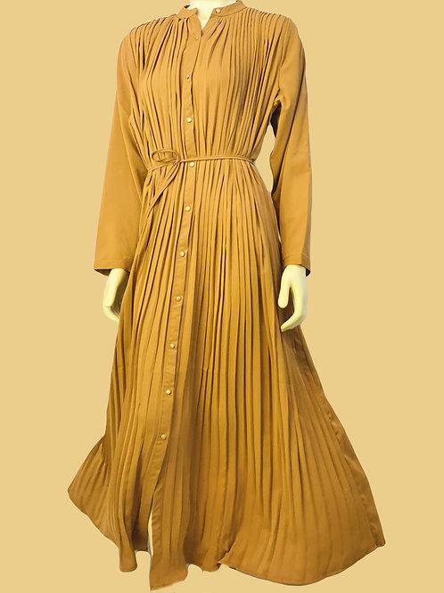 Size Adjustable Pleated Dress