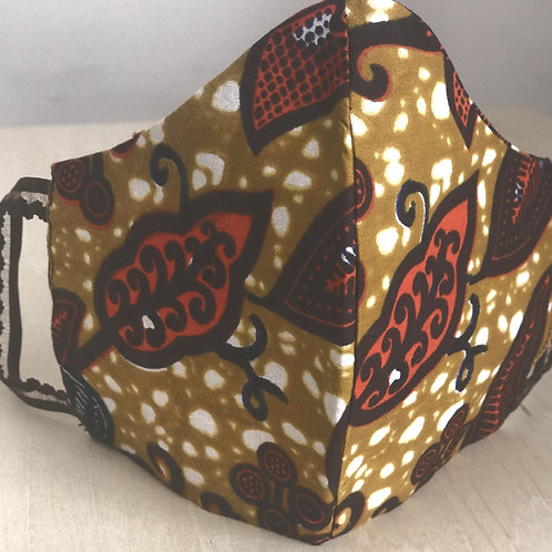 Face Cover- Ankara Collection (Africanprint-brown&orange)