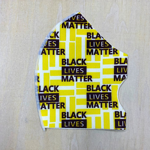 Face Cover- BLM Yellow/Black
