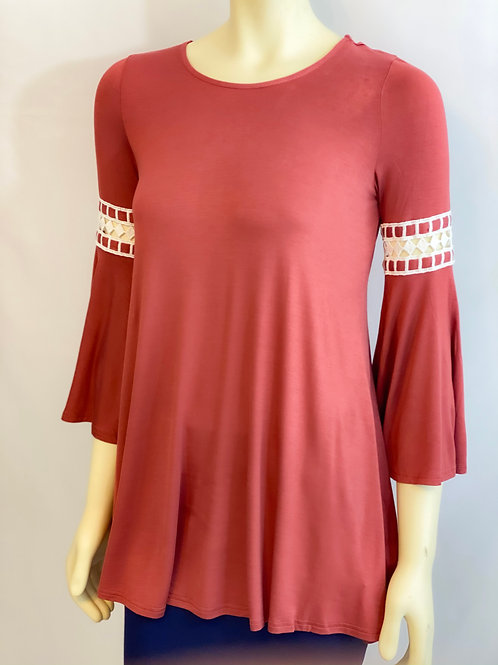 Fit n Flare Blouse-Rust