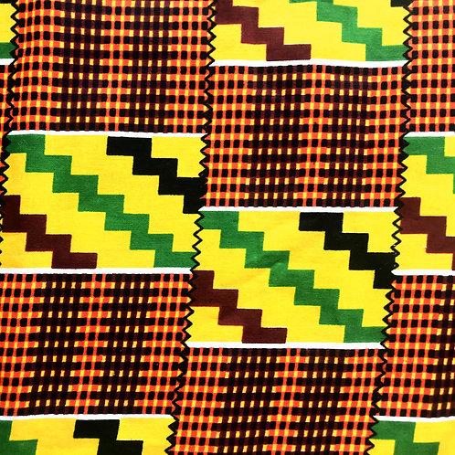 Face Cover- Ankara Collection (Africanprint-green&yellow))