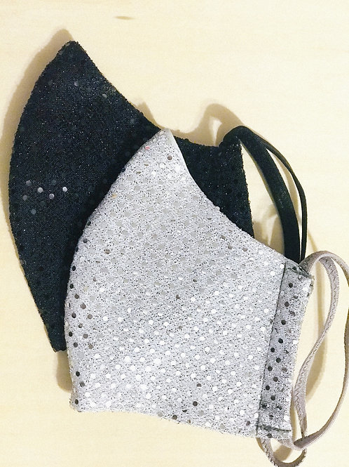 Face Cover -Reflections Bling (Black or Silver)