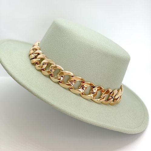 Fedora Hat w/chain