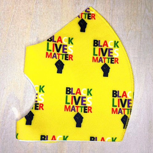 Face Cover- BLM yellow/colors