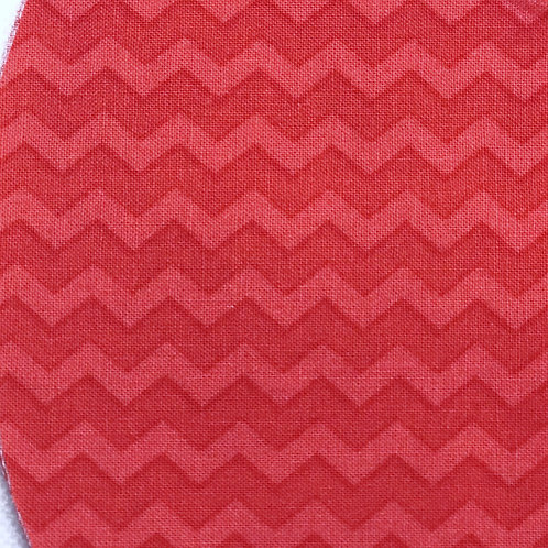 Face Cover- Salmon Chevron StripeDenim