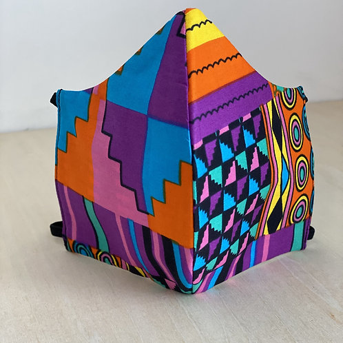 Face Cover- Ankara Collection (Africanprint pink/purple)