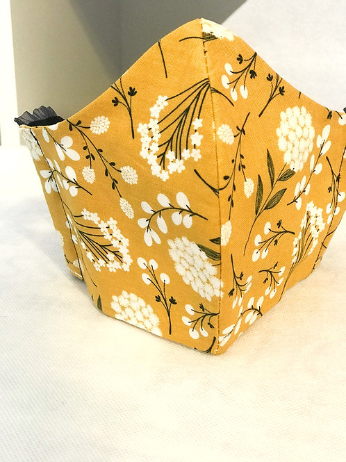 Face Cover- Gold Floral