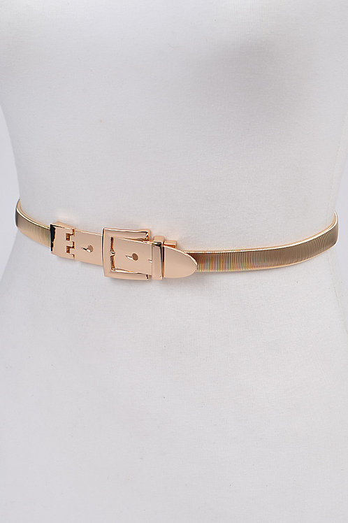 Gold Square Buckle Belt