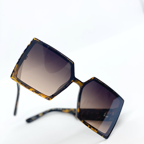 Oversized Square Shade-Leopard