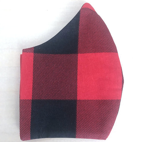 Face Cover -Black&Red