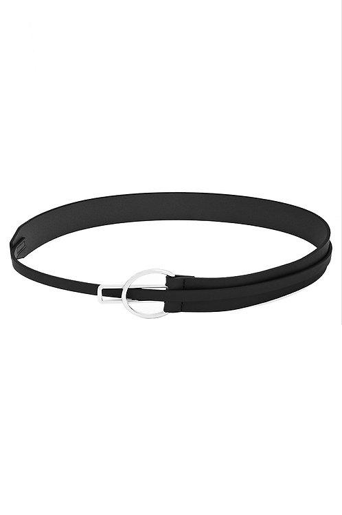 Fashion Leather Belt-BLK