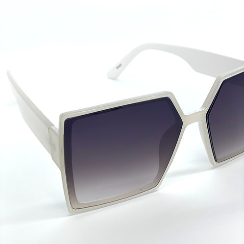 Oversized Square Shade-WHT