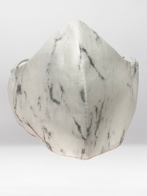 Face Cover- White Marble