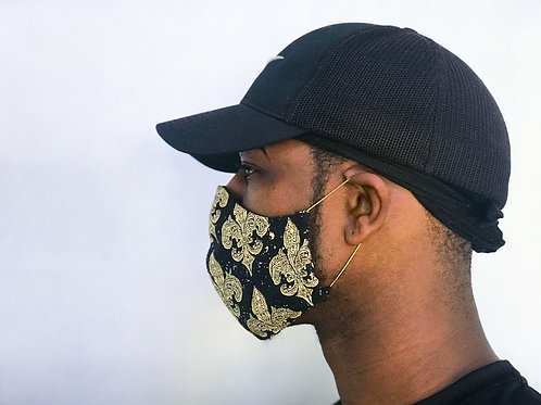 Face Cover- French Gold&Black