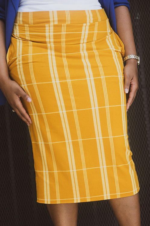 Sassed with Stripes Pencil skirt