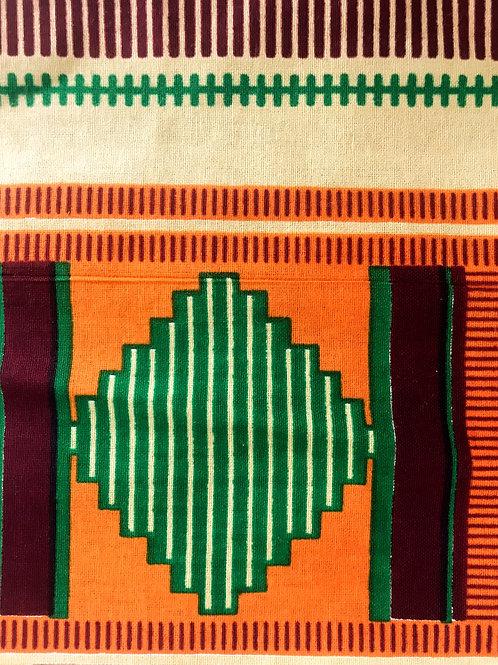 Face Cover- Ankara Collection (Africanprint-green&orange)