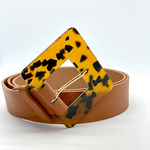 Pattern Square Buckle Belt