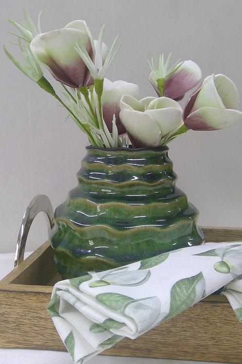 Vase, tropical-grün, 14 cm