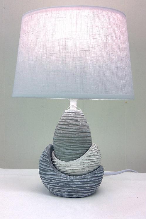 Tischlampe Sichel mit Struktur in antik grau/beige