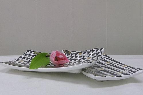 Dekoteller im Retro Trenddesign 22 cm