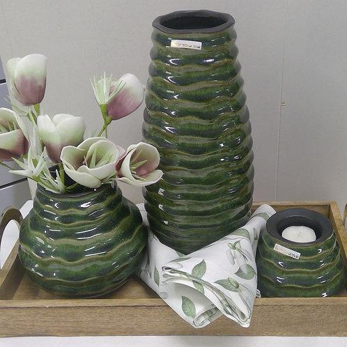 Vase, tropical-grün, 30 cm