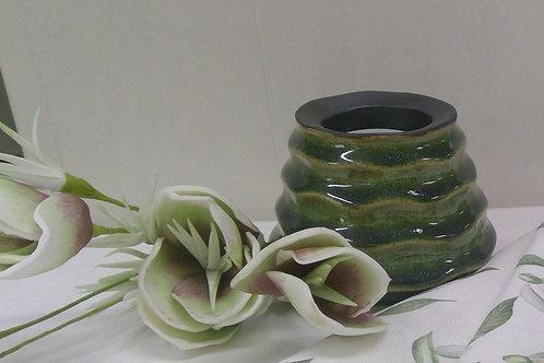 Teelichtleuchte, tropical-grün, 9 cm