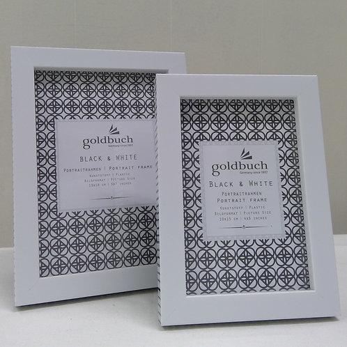 Bilderrahmen Black & White weiß/schwarz 10x15 cm