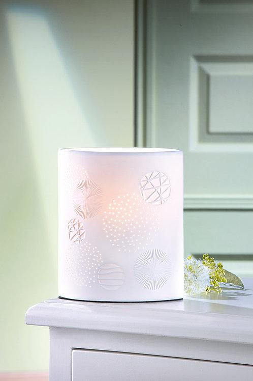 "Porzellan Lampe Ellipse ""Esfera"" weiß 28 cm"