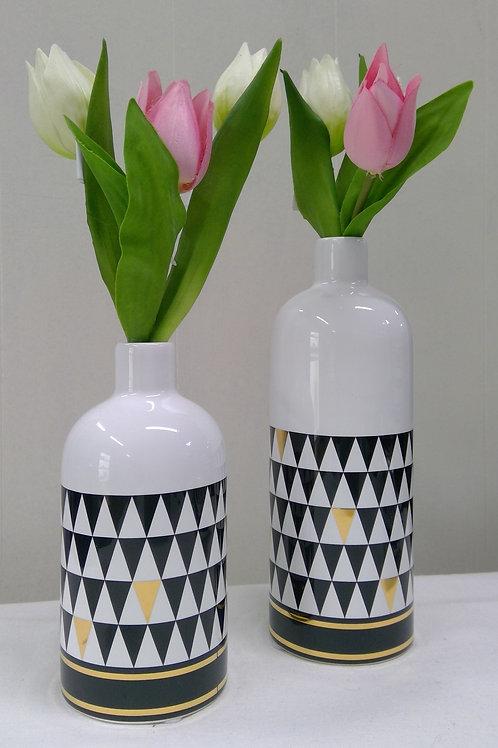 Flaschenvase im Retro Trenddesign 16cm