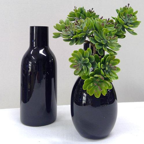 Glasvase schwarz