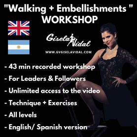 Tango Walking & Embellishments Workshop by Gisela Vidal