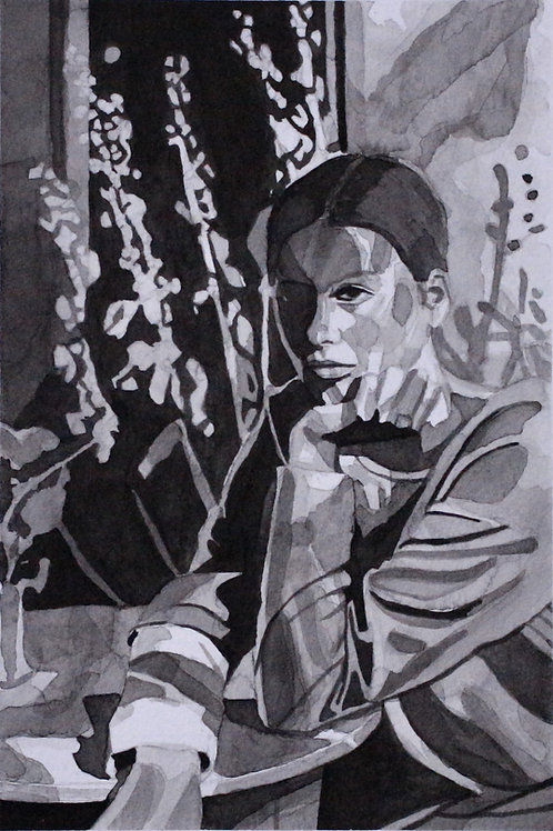 """""""Without"""" Original 8""""x10""""Ink Wash"""