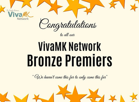 VivaMk Bronze Premier Recognition August 2020