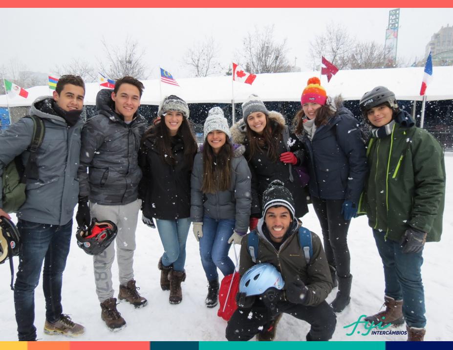 Grupo de estudantes no High School Canadá